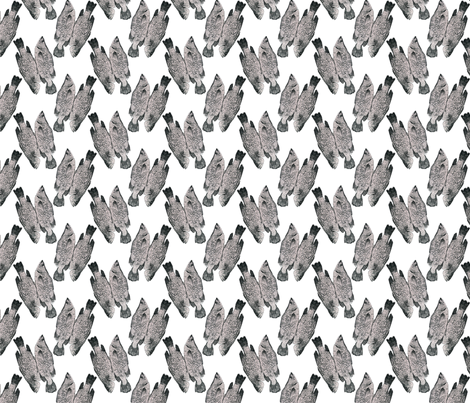Fish in Grey fabric by jenniferpitchers on Spoonflower - custom fabric