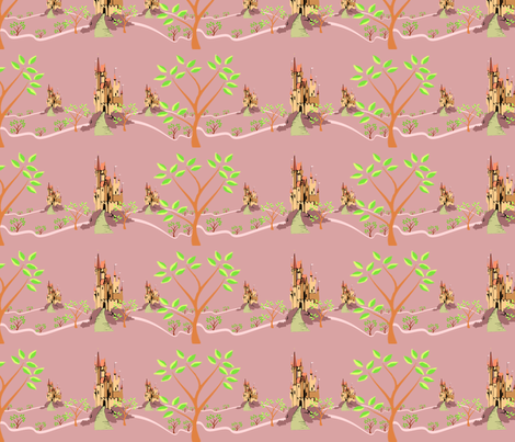 little kingdoms mauve fabric by krs_expressions on Spoonflower - custom fabric