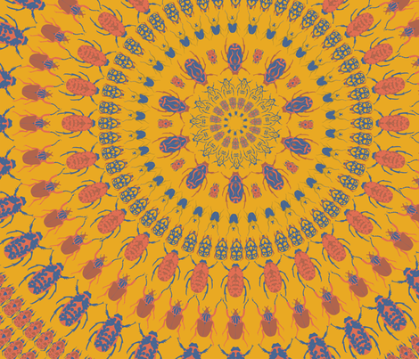 Coleoptera fabric by candyjoyce on Spoonflower - custom fabric