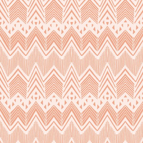 Hand drawn Chevron fabric by kimsa on Spoonflower - custom fabric