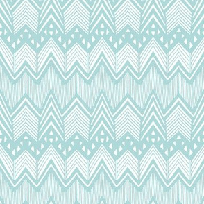 Emerald Hand drawn Chevron 