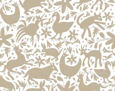 Mexico Springtime: Linen onWhite (small scale)