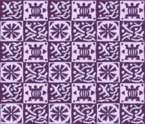 Inspired by African designs - purple fabric by martaharvey on Spoonflower - custom fabric