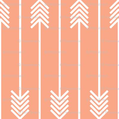 white arrows flip flop on peach