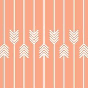 white arrows flip flop on peach