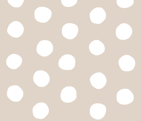 Polkadots - Organic Style fabric by studio_ggc on Spoonflower - custom fabric
