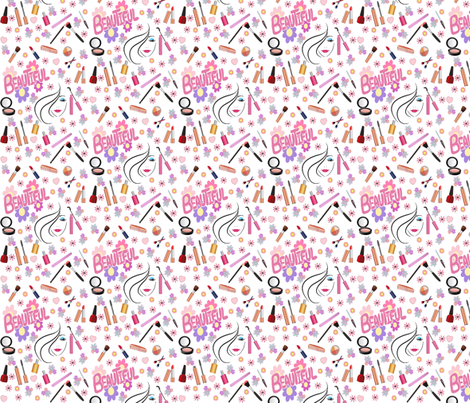cosmetics fabric by krs_expressions on Spoonflower - custom fabric