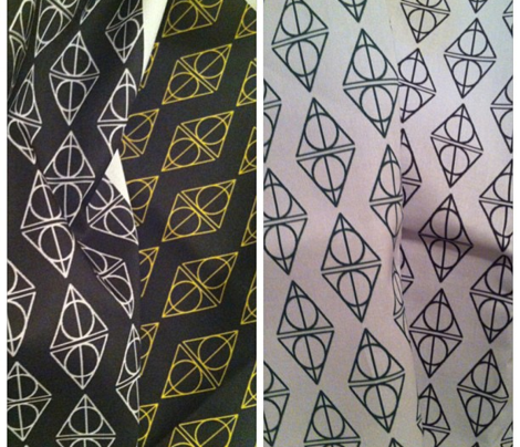 Deathly Hallows White and Black