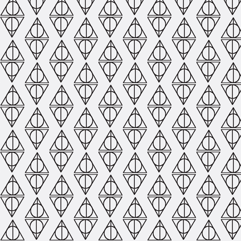 Deathly Hallows White and Black fabric by occiferbetty on Spoonflower - custom fabric