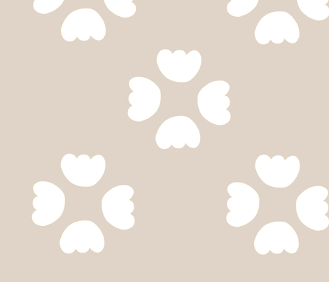 buds -beige fabric by studio_ggc on Spoonflower - custom fabric