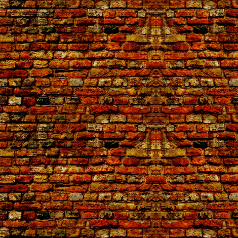 Doll house brick walls.