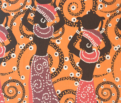 African ladies on orange