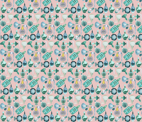 perfume bottles fabric by krs_expressions on Spoonflower - custom fabric