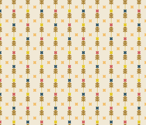 Floral Stripes Retro fabric by kathyjuriss on Spoonflower - custom fabric
