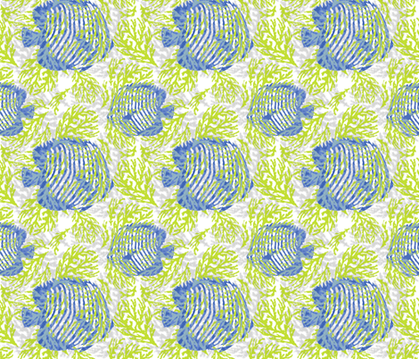 Undersea Kiwi fabric by lulabelle on Spoonflower - custom fabric