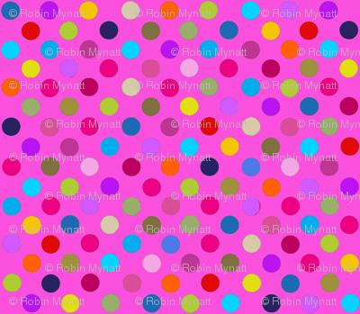 Party Dots Multi polka dots / PINK Paris Bebe Fabrics