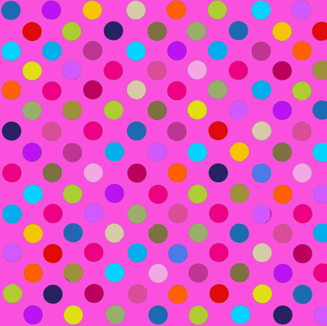 Party Dots Multi polka dots / PINK Paris Bebe Fabrics fabric by parisbebe_com on Spoonflower - custom fabric