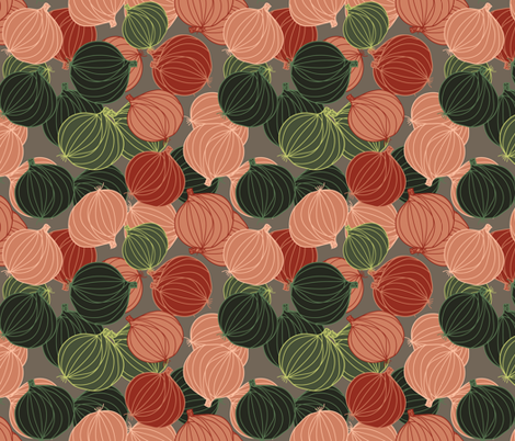lots of onions fabric by kociara on Spoonflower - custom fabric