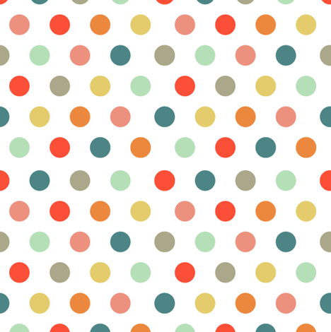 Fiesta Polkadot fabric by jiah on Spoonflower - custom fabric