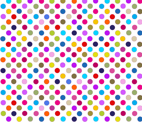 Fancy Party Dots Multi polka dots / White Paris Bebe Fabrics fabric by parisbebe_com on Spoonflower - custom fabric