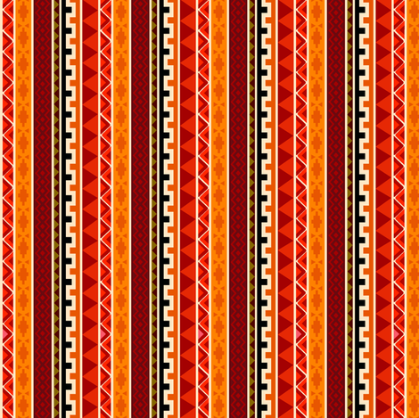 African Tafari Tribal Pattern fabric by holladaydesigns on Spoonflower - custom fabric