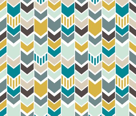 Nautical Chevron fabric by mrshervi on Spoonflower - custom fabric
