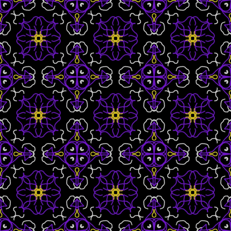 Midnight fabric by knita on Spoonflower - custom fabric