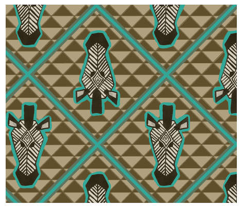 African-inspired fabric by amedward on Spoonflower - custom fabric
