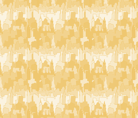 Golden City fabric by pond_ripple on Spoonflower - custom fabric