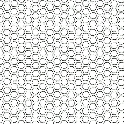 Calligraphy Honeycomb fabric by spikymammal on Spoonflower - custom fabric
