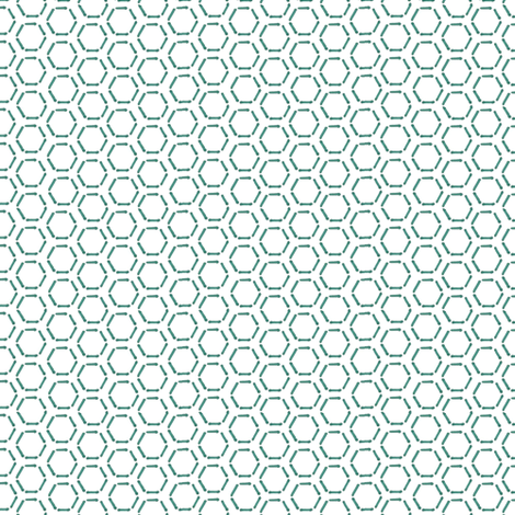 Turquoise Honeycomb fabric by spikymammal on Spoonflower - custom fabric