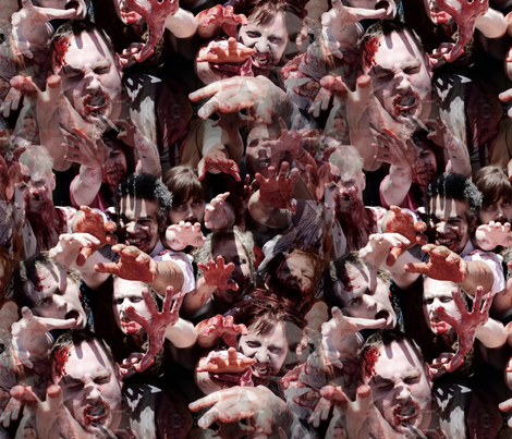 Zombie Horde - Walking Dead fabric by dr_frybrain on Spoonflower - custom fabric