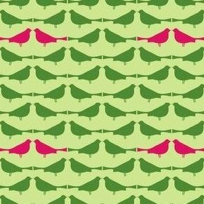 Tweeties -- pink/green/light green