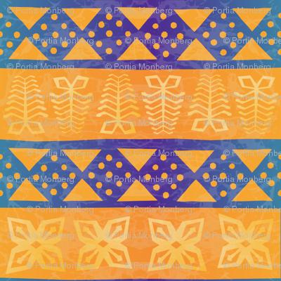 african batik textile