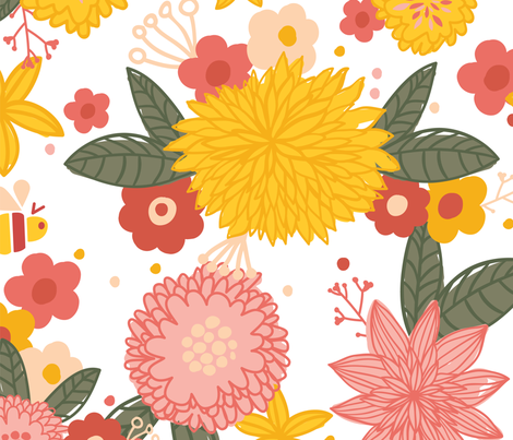 flower fabric by london_dewey on Spoonflower - custom fabric