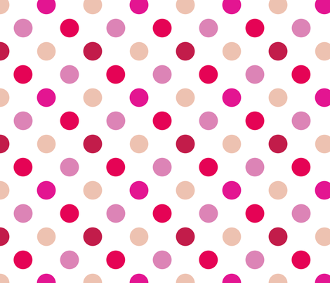pois_moyen_multi_rose_M fabric by nadja_petremand on Spoonflower - custom fabric