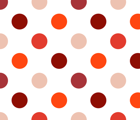 pois_moyen_multi_rouge_L fabric by nadja_petremand on Spoonflower - custom fabric