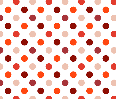 pois_moyen_multi_rouge_M fabric by nadja_petremand on Spoonflower - custom fabric