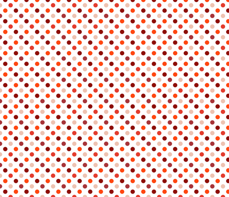 pois_moyen_multi_rouge_S fabric by nadja_petremand on Spoonflower - custom fabric