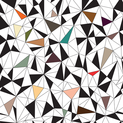 Triangles Colorful fabric by kimsa on Spoonflower - custom fabric