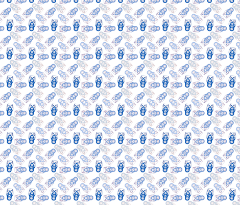 poupée_russe_twist_bleu_fond_blanc_S fabric by nadja_petremand on Spoonflower - custom fabric