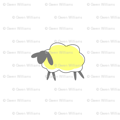 impossible yellow sheep