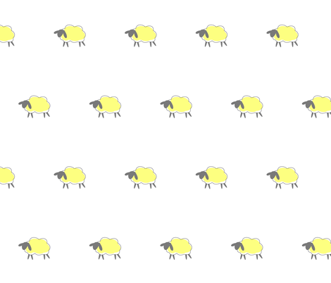 impossible yellow sheep fabric by mojiarts on Spoonflower - custom fabric