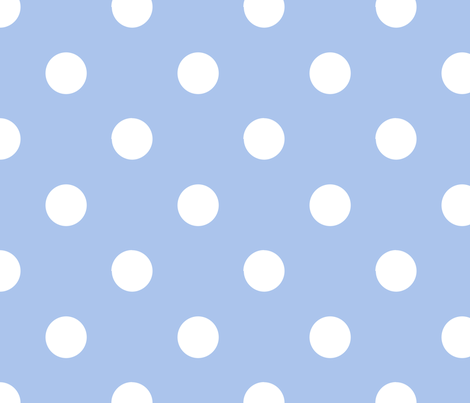 pois_blanc_fond_bleu_L fabric by nadja_petremand on Spoonflower - custom fabric