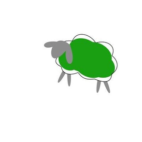 impossible green sheep
