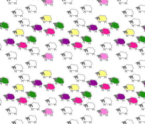 impossible sheep pink fabric by mojiarts on Spoonflower - custom fabric