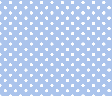 pois_blanc_fond_bleu_M fabric by nadja_petremand on Spoonflower - custom fabric