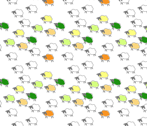 impossible sheep orange fabric by mojiarts on Spoonflower - custom fabric