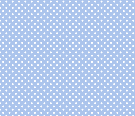 pois_blanc_fond_bleu_S fabric by nadja_petremand on Spoonflower - custom fabric