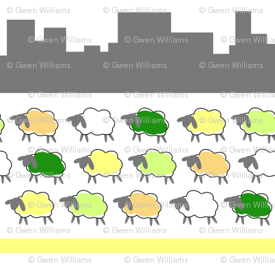 impossible sheep in the city
